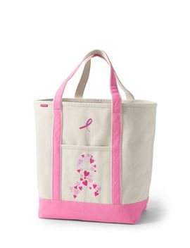 Pink Print Large Open Top Tote Bag by Lands' End