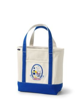Lighthouse Embroidered Medium Open Top Tote Bag by Lands' End