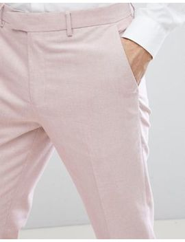 River Island Skinny Fit Oxford Suit Trousers In Pink by River Island