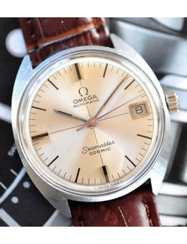 Vintage Omega Seamaster Cosmic Automatic Watch Stunning Cross Hairs Dial Runs+++ by Omega