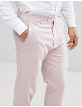 Asos Wedding Tapered Smart Trousers In Dusky Pink by Asos