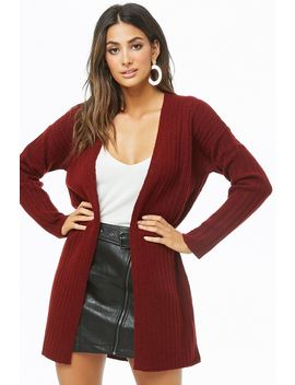 Brushed Ribbed Cardigan by Forever 21