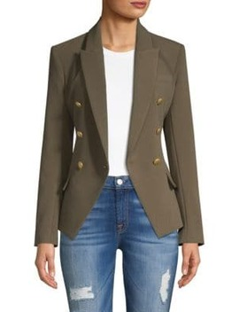 Long Sleeve Double Breasted Blazer by L'agence