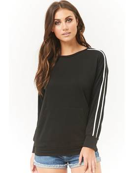 French Terry Varsity Striped Sweater by Forever 21