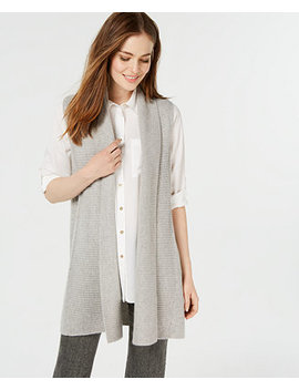 Pure Cashmere Shaker Stitch Vest, Created For Macy's by Charter Club