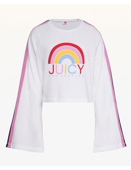 Jxjc Side Stripe Rainbow Logo Terry Pullover by Juicy Couture
