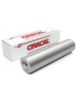 Oracal 651 Glossy Permanent Vinyl 12 Inch X 6 Feet   Metallic Silver Grey by Oracal