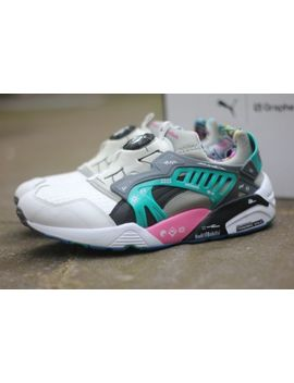 Puma X Graphersrock Disc Blaze   Trainers White Pink Teal Japan   361378 01 by Ebay Seller
