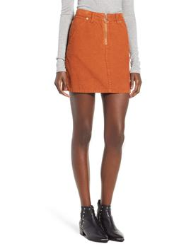 Cord Miniskirt by Topshop