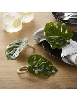 Monstera Leaf Napkin Ring by Crate&Barrel