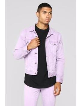 Marko Denim Jacket   Purple by Fashion Nova