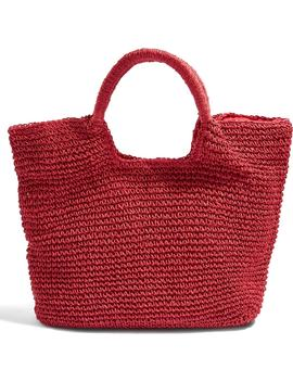 Brighty Straw Tote Bag by Topshop