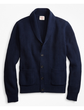 Shawl Collar Button Front Cardigan by Brooks Brothers