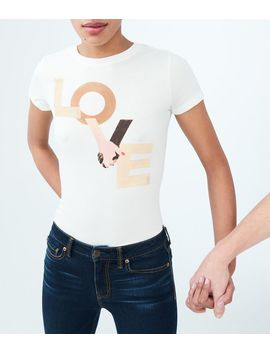 Free State Love Hands Graphic Tee by Aeropostale