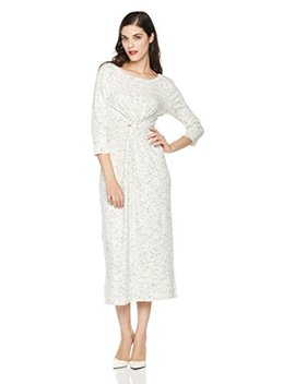 Mariella Bella Women's 3/4 Sleeve Knit Dress With Front Knot Detail by Mariella+Bella