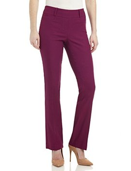 Rekucci Women's Ease In To Comfort Fit Barely Bootcut Stretch Pants by Rekucci