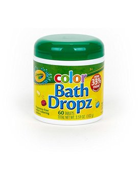 Crayola Bath Dropz 3.59 Oz 60 Tablets (Pack Of 2) by Crayola