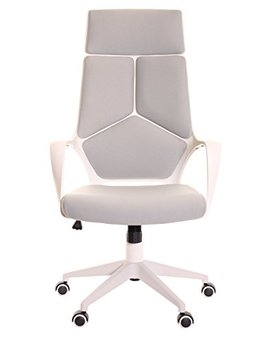 Time Office Ergonomic Office Chair With Armrest And Matt White Color Frame–Grey by Time Office