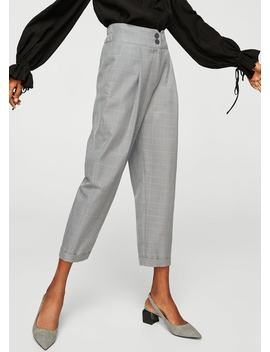Kostkované Kalhoty Se Záševky by Mango