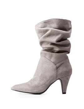 Slouchy Ankle Boots by Charlotte Russe