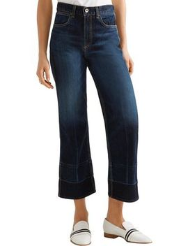Lou Cropped High Rise Straight Leg Jeans by Rag & Bone