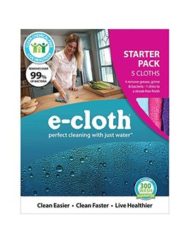 E Cloth Starter Pack   5 Cloths, Perfect Chemical Free Cleaning With Just Water, 99 Percents Antibacterial by E Cloth