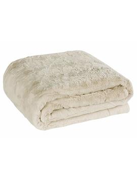 """Brielle Faux Fur Oversized Throw, 50"""" By 70"""", Snow Goose Ivory by Brielle"""