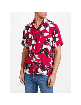 Edwin Garage Floral Short Sleeve Shirt, Red by Edwin
