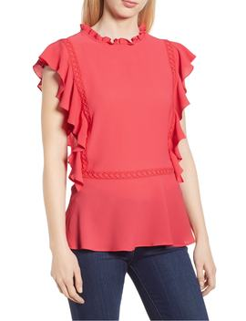 Ruffled Peplum Blouse by Gibson