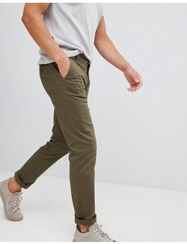 Burton Menswear – Enge Chinohose In Khaki by Burton Menswear London