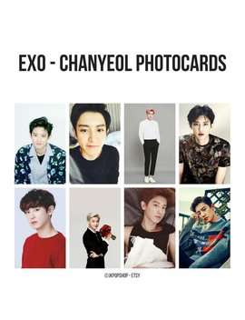 Exo   Park Chanyeol Photocards by Etsy