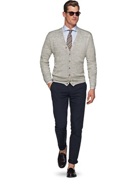 Light Grey Cardigan by Suitsupply
