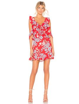Questions Mini Dress In Red Floral by C/Meo