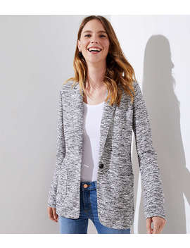 Tall Textured Knit Patch Pocket Blazer by Loft