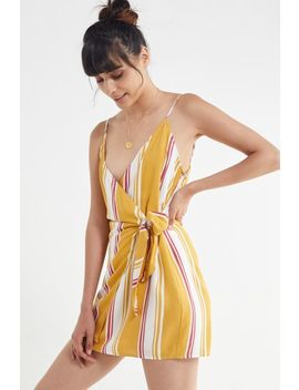 Uo Striped Wrap Mini Dress by Urban Outfitters