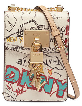 Elissa Pebbled Charm Chain Strap Crossbody, Created For Macy's by Dkny