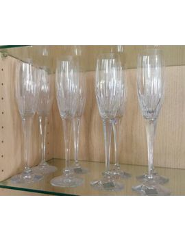 Mikasa Arctic Lights Fluted Handcut Crystal Champagne Glasses, Set Of 8&Nbsp; by Mikasa