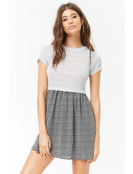 Zigzag Contrast Mini Dress by Forever 21
