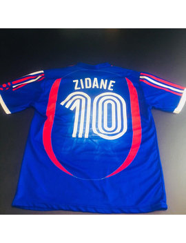 Vintage Mens Small Blue France Zenidine Zidane Soccer Jersey by Etsy