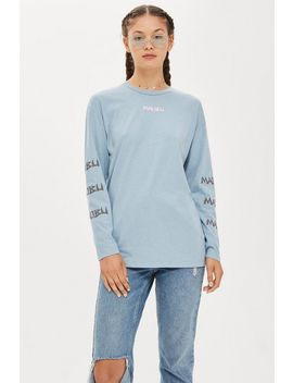 Long Sleeve Malibu Surf Top by Topshop