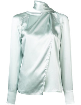 Yigal Azrouelhigh Neck Blousehome Women Clothing Blousessuede Certosa Muleshigh Neck Blouse by Yigal Azrouel