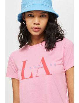 Petite 'la' Neat T Shirt by Topshop