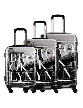 Davidjones 3 Piece Luggage Set Hardside Spinner Suitcase Set For Travel Business by David   Jones International.