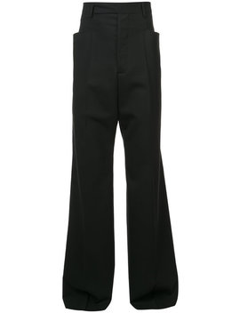 Rick Owenswide Leg Trousershome Men Clothing Wide Leg Trouserscurved Hem Tank Topwide Leg Trousers by Rick Owens