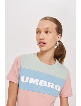 Colour Block Logo T Shirt By Umbro by Topshop