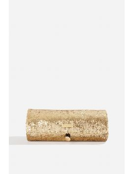 **Gold Glitter Make Up Roll Bag By Skinnydip Beauty by Topshop