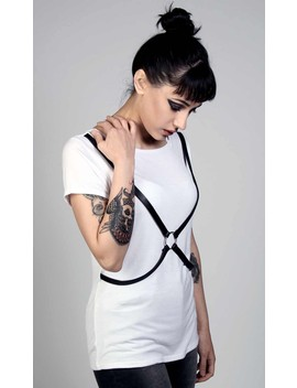 Harness Tee White by Disturbia