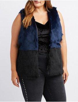 Plus Size Faux Fur Vest by Charlotte Russe