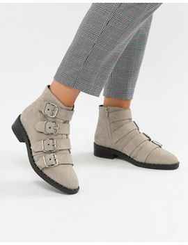 Asos Design Avid Suede Studded Ankle Boots by Asos Design