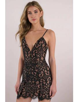 Taylor Black Lace Up Bodycon Dress by Tobi